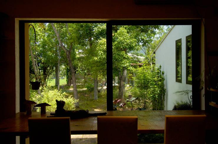 土佐漆喰の家: 大森建築設計室が手掛けた窓です。