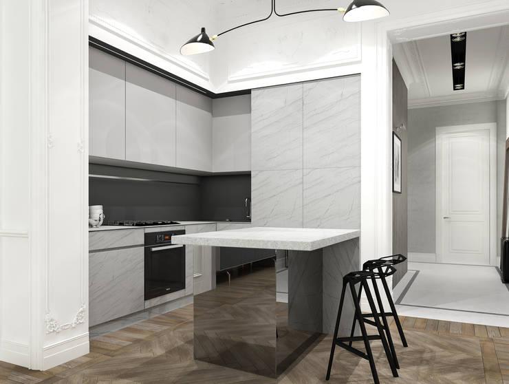 Дизайн-проект квартира Остоженка: Кухни в . Автор – Projecto2