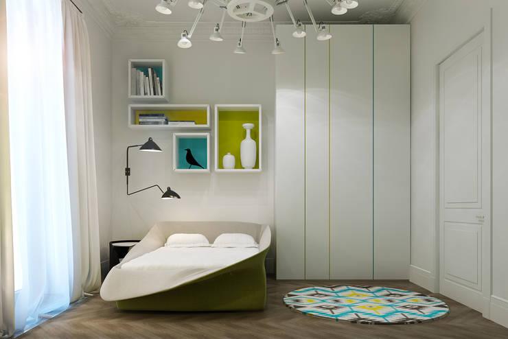 Дизайн-проект квартира Остоженка: Детские комнаты в . Автор – Projecto2