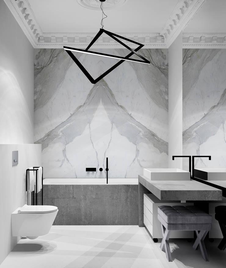 Дизайн-проект квартира Остоженка: Ванные комнаты в . Автор – Projecto2