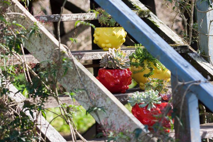 MACETA -MODELO BLUP: Jardines de estilo  por CURADORAS