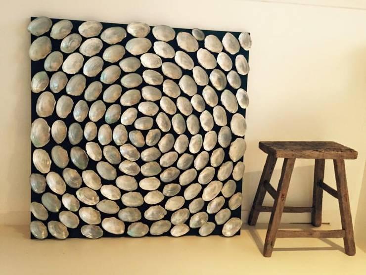Schelpenschilderij 100x100cm:  Kunst  door Woodlovesyou&more