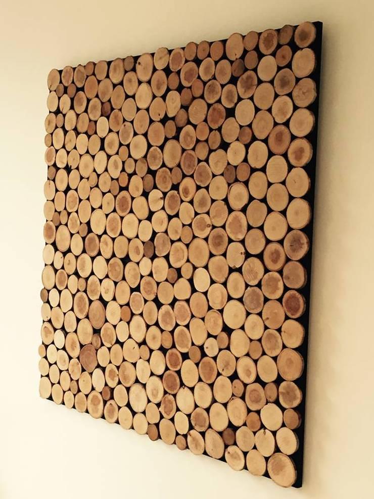 Schilderij woodslices :  Kunst  door Woodlovesyou&more