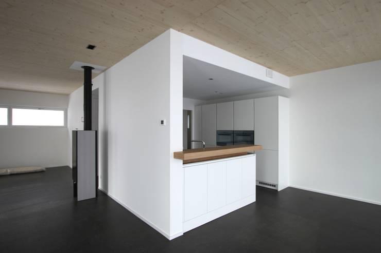 Einfamilienhaus als Passivhaus: moderne Küche von RAB Rutz + Bänziger Architekten