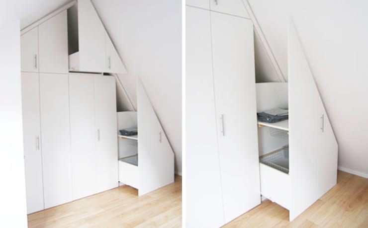 Camera da letto in stile in stile Minimalista di WEBERontwerpt | architectenbureau