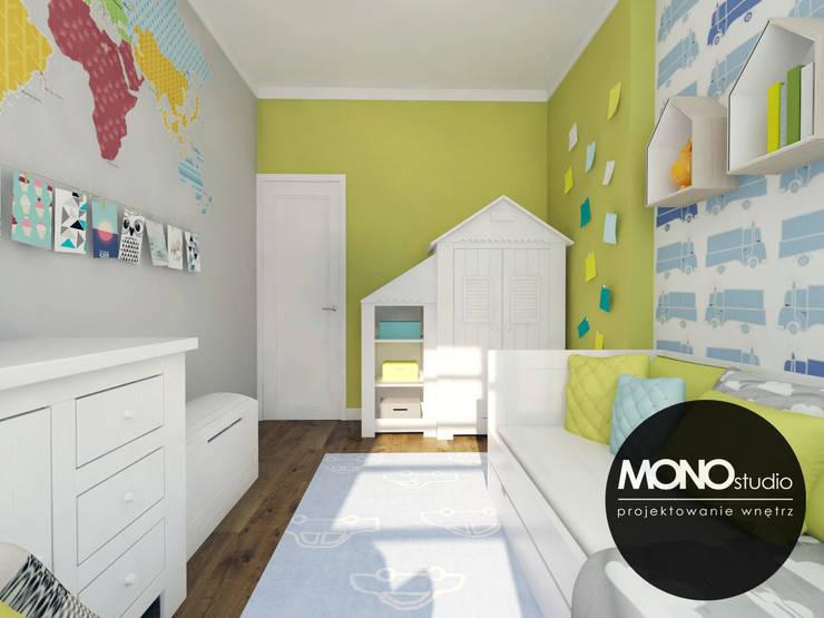 Pokój dziecięcy musi łączyć funkcjonalność: styl , w kategorii Pokój dziecięcy zaprojektowany przez MONOstudio