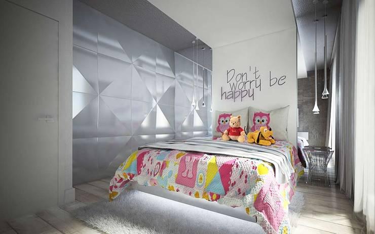 SUROWY BETON I ELEGANCKIE DODATKI W DOMU W STARYCH BABICACH: styl , w kategorii Sypialnia zaprojektowany przez TISSU Architecture