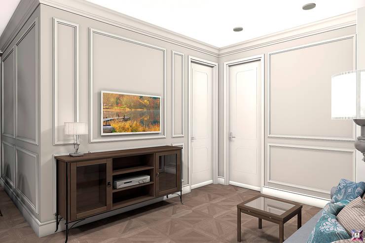 Квартира на ул. Садовая: Гостиная в . Автор – A.workshop