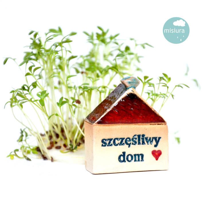 Dom ceramiczny szczęśliwy: styl , w kategorii  zaprojektowany przez AGNIESZKAPRUCIA MISIURA DESIGN,Nowoczesny