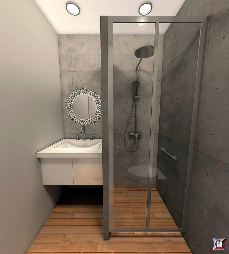Квартира на ул. Первомайская: Ванные комнаты в . Автор – A.workshop