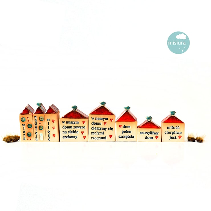 Dom ceramiczny z przesłaniem: styl , w kategorii  zaprojektowany przez AGNIESZKAPRUCIA MISIURA DESIGN,Nowoczesny