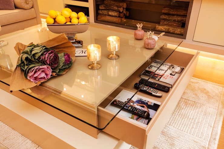 Projekty,  Salon zaprojektowane przez Canan Delevi