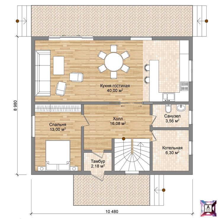 Проект дома :  в . Автор – A.workshop