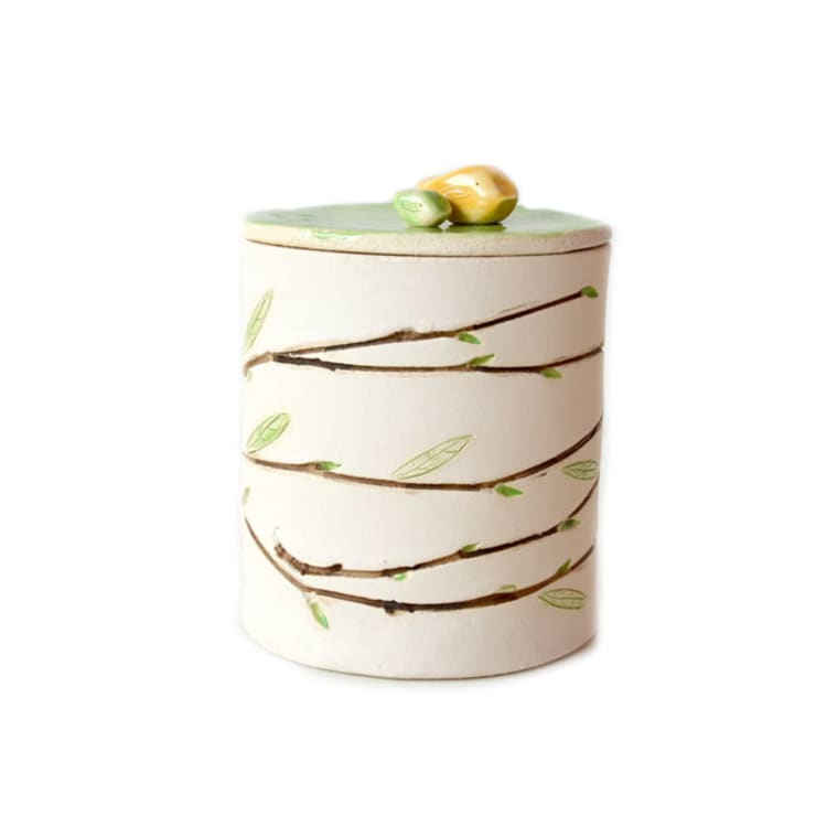 Pojemnik do przechowywania brzoza: styl , w kategorii Salon zaprojektowany przez AGNIESZKAPRUCIA MISIURA DESIGN