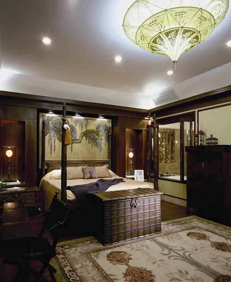 Дизайн загородного дома в поселке Barvikha Hills : Спальни в . Автор – White & Black Design Studio