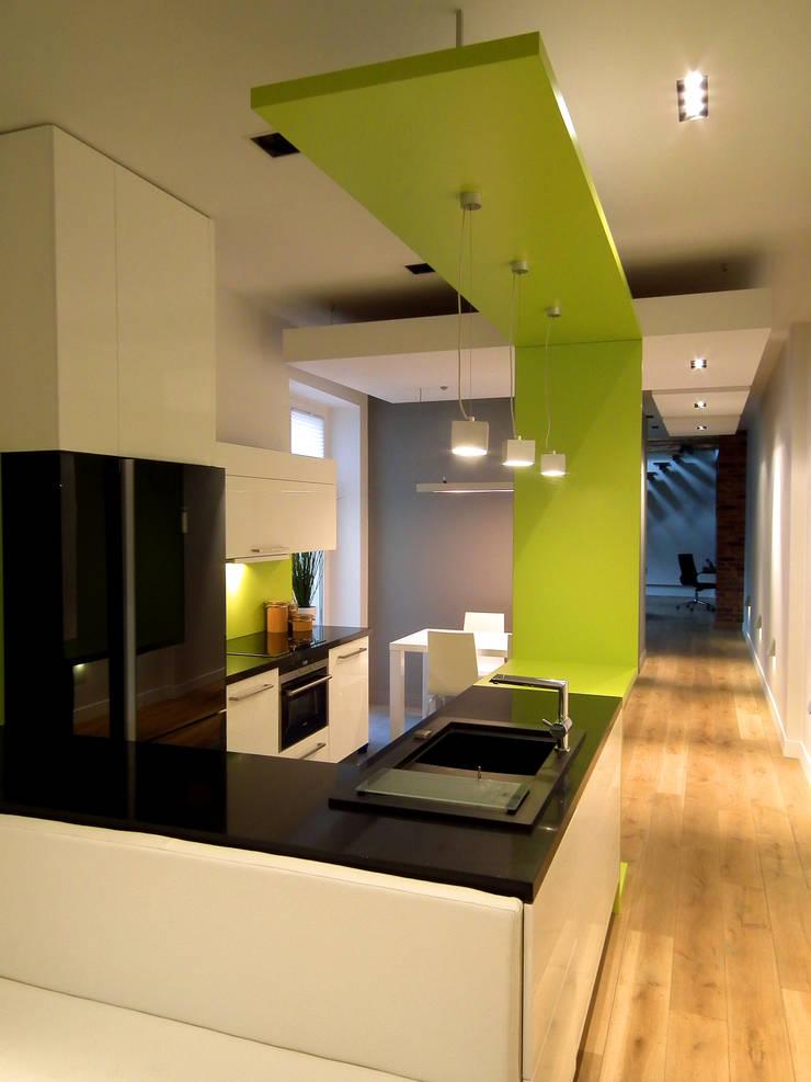 Mieszkanie Katowice: styl , w kategorii Kuchnia zaprojektowany przez LMarchitekt,