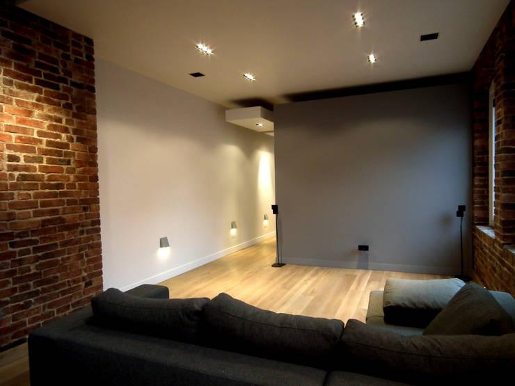 Mieszkanie Katowice: styl , w kategorii Salon zaprojektowany przez LMarchitekt,