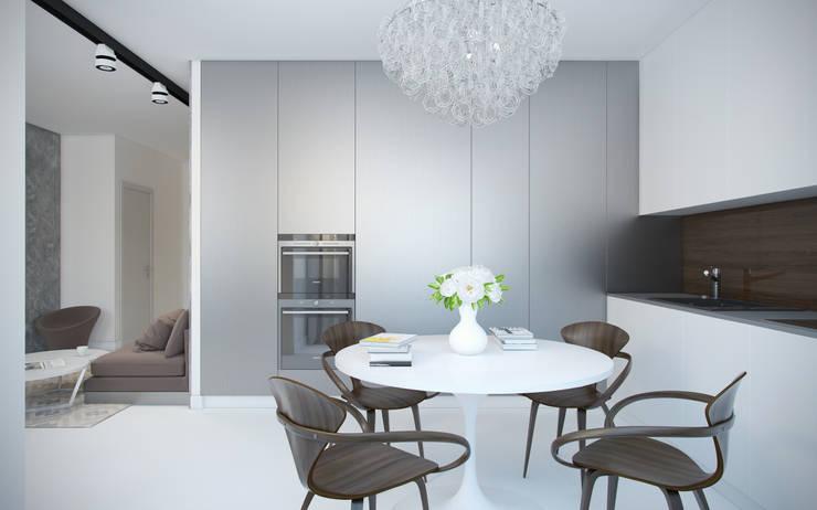 Дизайн квартиры в ЖК Суханово парк: Кухни в . Автор – White & Black Design Studio, Модерн