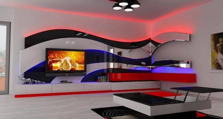 Mozza dİzayn – Kaş :  tarz Oturma Odası