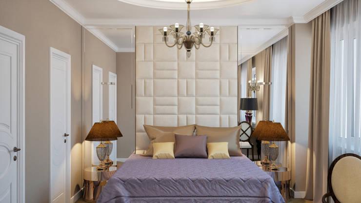 غرفة نوم تنفيذ White & Black Design Studio