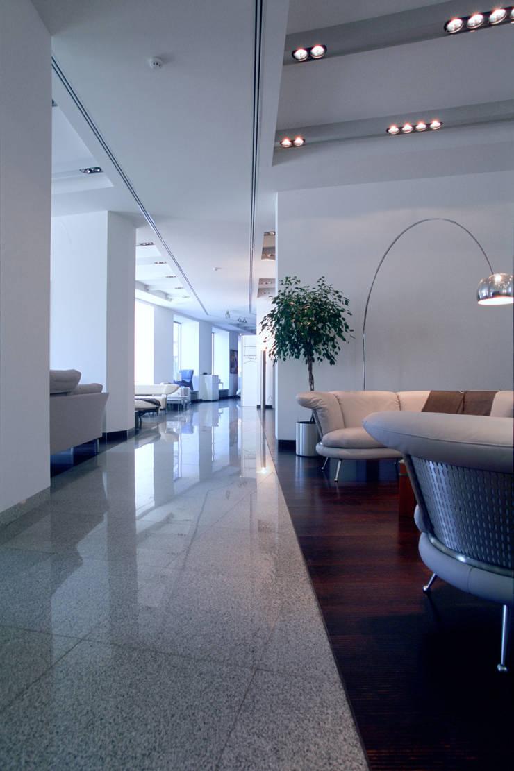 Вид на пространство Шоурума: Офисы и магазины в . Автор – Архитектурное бюро Лены Гординой