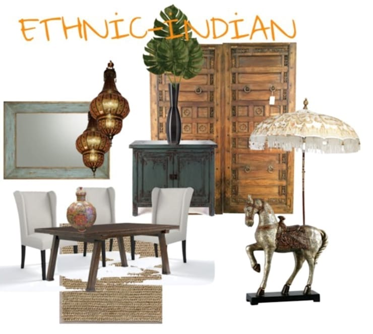Indian :  Dining room by Studio D. Interiors