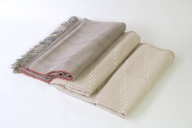 Handwoven Cotton Throws & Blankets:  Living room by Teresa Georgallis