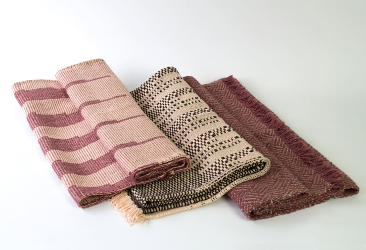 Handwoven Cotton and Wool Throws & Blankets:  Living room by Teresa Georgallis