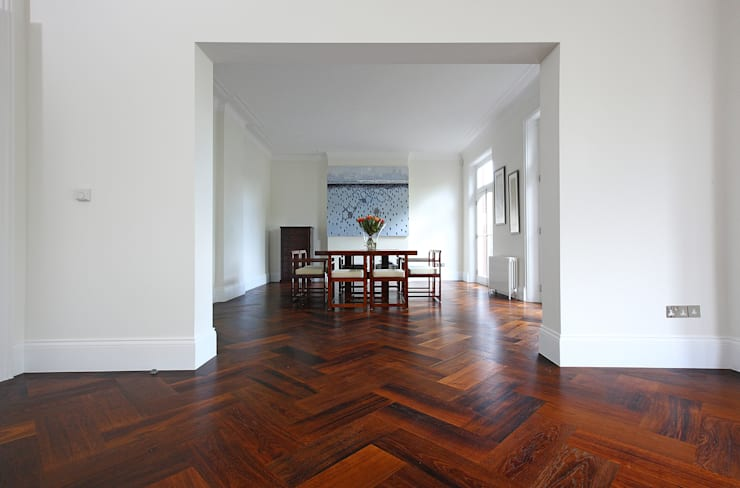 South Brompton Apartments, London:  Dining room by PAD ARCHITECTS
