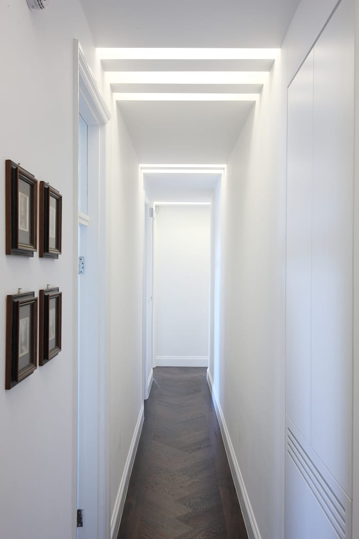 South Brompton Apartments, London:  Corridor & hallway by PAD ARCHITECTS
