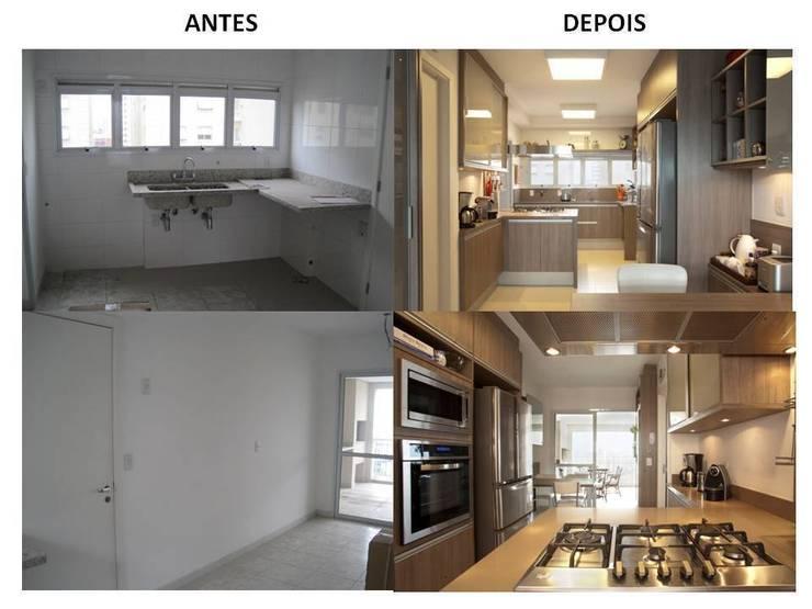 Cozinha Antes e Depois:   por Pereira Reade Interiores