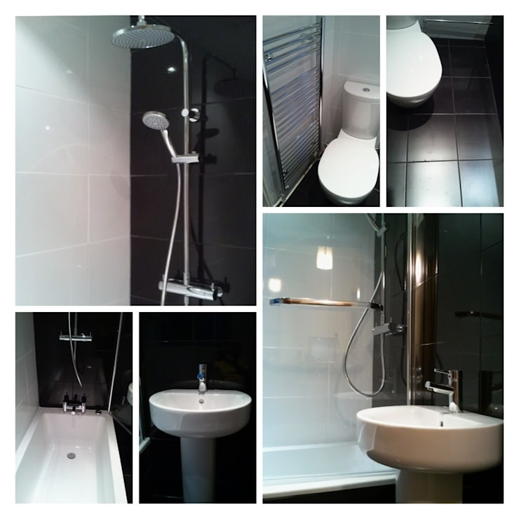 Ebony & Ivory:  Bathroom by Rothwell James