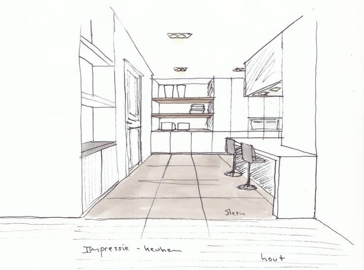 Woonkeuken:   door Grego Design Studio