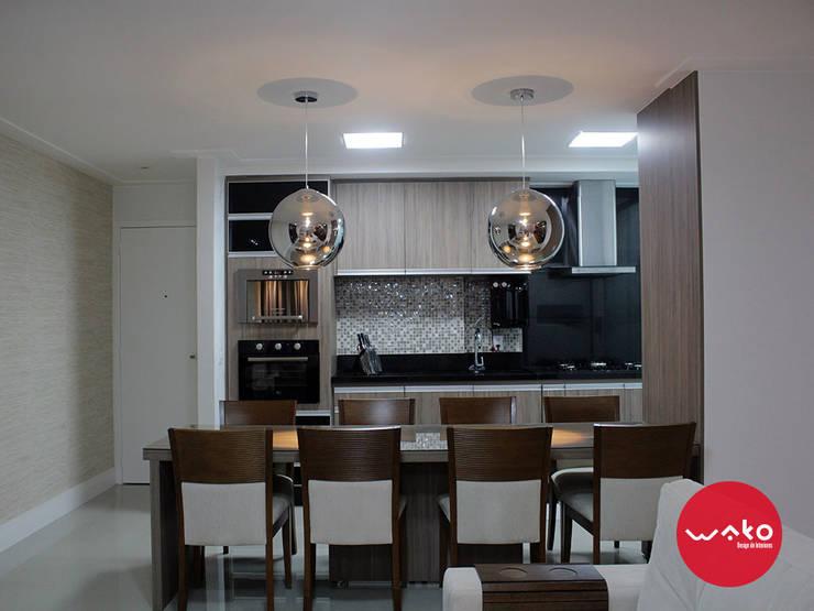 Cozinha e Jantar: Cozinhas  por WAKO Design de Interiores