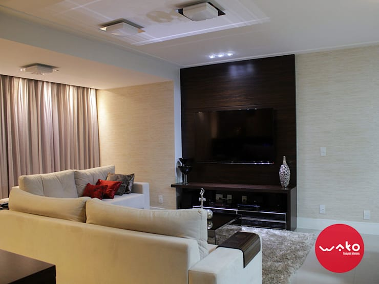 Sala de estar: Salas de estar  por WAKO Design de Interiores