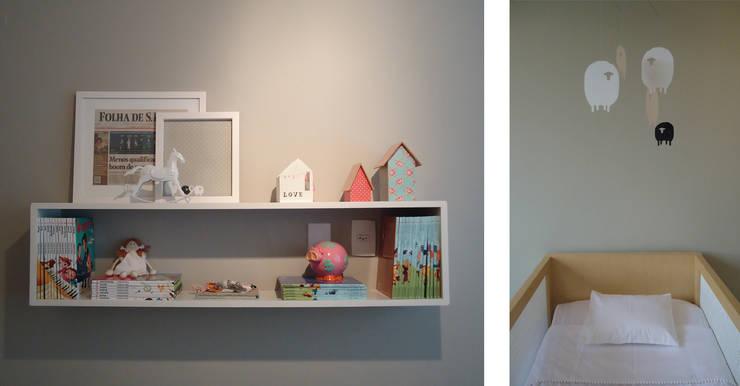 Quarto Bebê Menina: Quarto de crianças  por studio scatena arquitetura