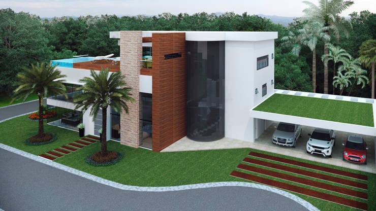 CASA 11 ESTALEIRINHO_SC: Casas modernas por TRAÇO FINAL ARQUITETURA E INTERIORES