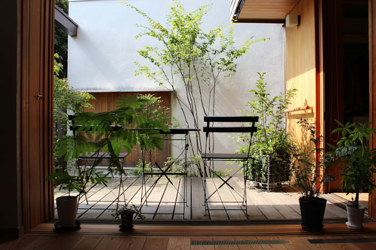 荏田町の家: 新井アトリエ一級建築士事務所が手掛けた庭です。