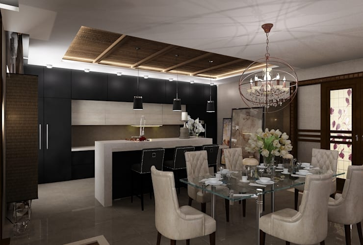 Интерьер столовой: Столовые комнаты в . Автор – Студия дизайна Натали Хованской