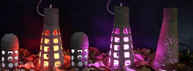 """Natural Lamp"" foto de la familia de luminarias : Hogar de estilo  de 'Folias De Spagna Studio'"