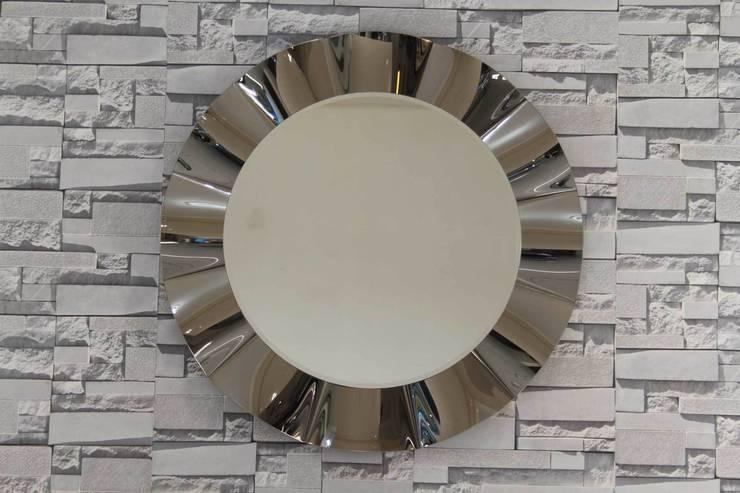 Anadolu Ayna – Yuvarlak dalgalı ayna:  tarz İç Dekorasyon