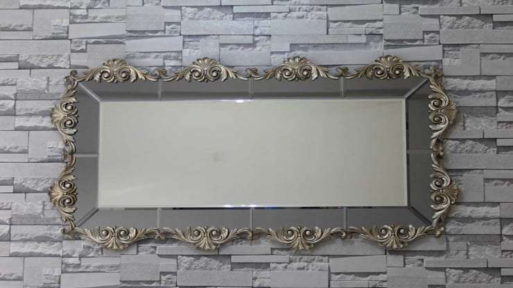 Anadolu Ayna – Yarı Klasik Varaklı Ayna:  tarz İç Dekorasyon