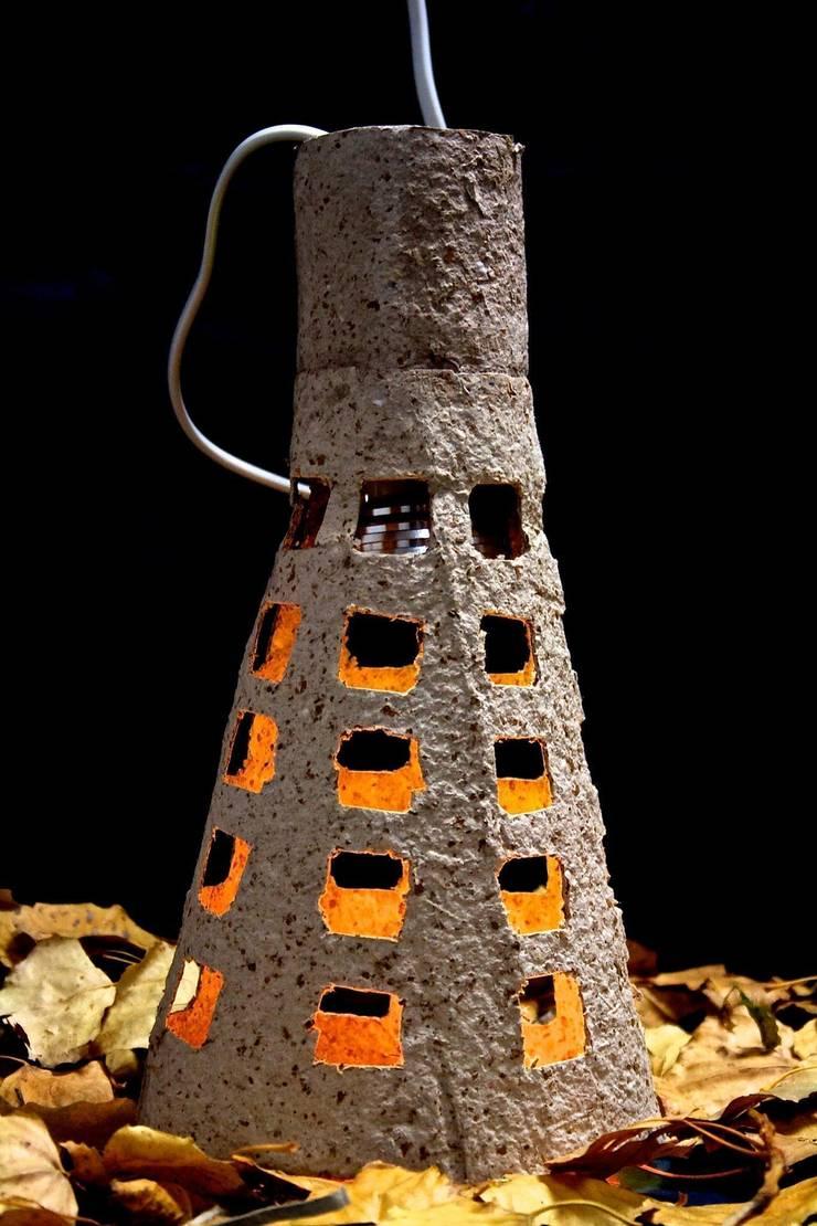 """""""Natural Lamp"""" lampara de mesa y techo : Hogar de estilo  de 'Folias De Spagna Studio'"""