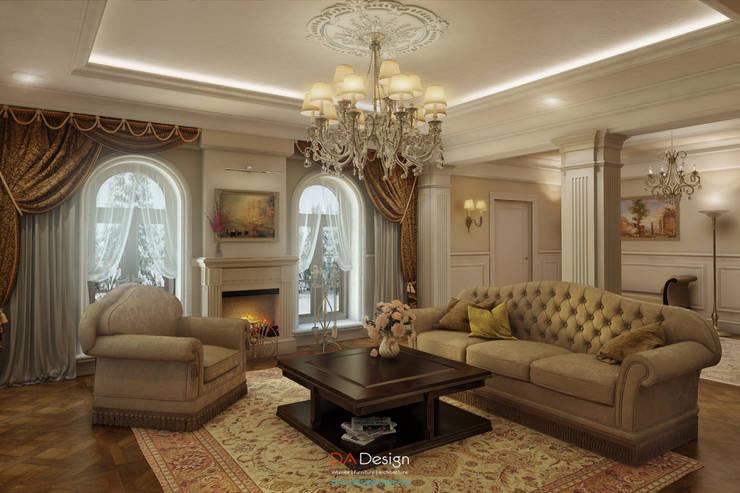 Гостиная в . Автор – DA-Design, Классический