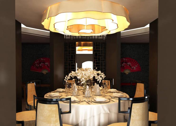 SIBEL SARIKAYA INTERIOR DESIGN OFFICE – Limak Arcadia Hotel & Resort Red Wok Chinese Restaurant:  tarz Oteller