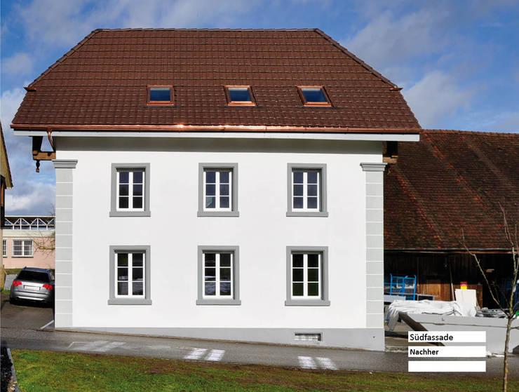 Sanierung Umbau - Bauernhaus Stöckli in Reitnau, Aargau: landhausstil Häuser von raumquadrat GmbH