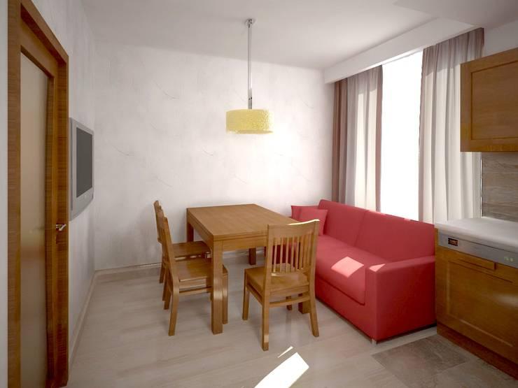 Проект гостиной-кухни: Гостиная в . Автор – Универсальная история,