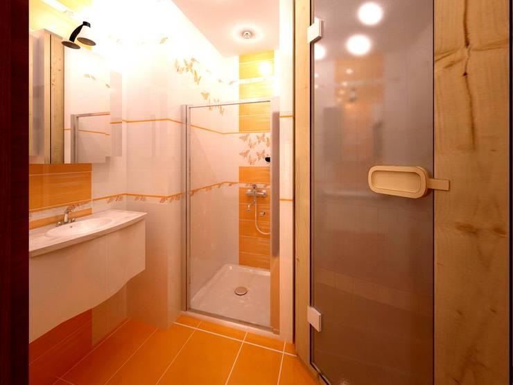Ванная с сауной - проект: Ванные комнаты в . Автор – Универсальная история,