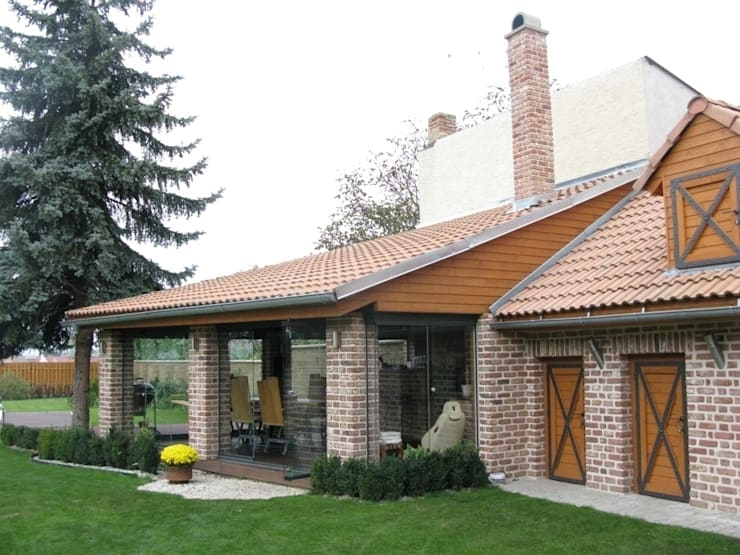 Balcon, Veranda & Terrasse classiques par SUNFLEX Aluminiumsysteme GmbH Classique