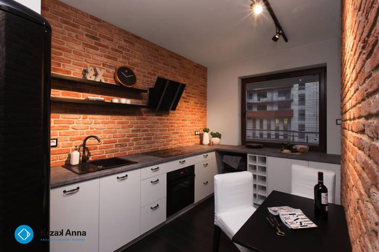mieszkanie kawalera: styl , w kategorii Kuchnia zaprojektowany przez Anna Krzak architektura wnętrz,